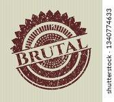 red brutal distress rubber...   Shutterstock .eps vector #1340774633