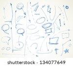 vector doodle symbol design... | Shutterstock .eps vector #134077649