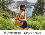 traveling and adventure concept....   Shutterstock . vector #1340777606