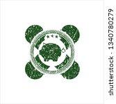 green piggy bank icon inside...   Shutterstock .eps vector #1340780279