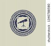 blue telescope icon inside...   Shutterstock .eps vector #1340788580