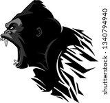 growling gorilla side grunge   Shutterstock .eps vector #1340794940