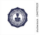 blue graduated icon inside...   Shutterstock .eps vector #1340799329