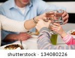 it's time to celebrate. family... | Shutterstock . vector #134080226