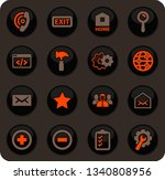 web tools color vector icons on ... | Shutterstock .eps vector #1340808956