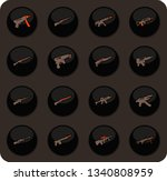 hand weapons color vector icons ... | Shutterstock .eps vector #1340808959