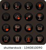 utensils for the preparation of ... | Shutterstock .eps vector #1340810090