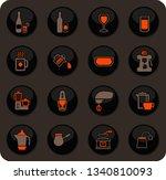 utensils for the preparation of ... | Shutterstock .eps vector #1340810093
