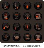 utensils for the preparation of ... | Shutterstock .eps vector #1340810096