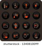 utensils for the preparation of ... | Shutterstock .eps vector #1340810099