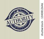 blue authority rubber grunge...   Shutterstock .eps vector #1340812646