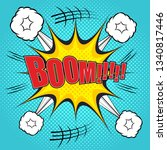 boom comic bubble text with... | Shutterstock . vector #1340817446
