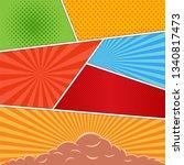 comics book background in... | Shutterstock . vector #1340817473