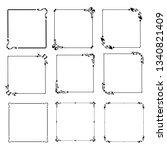 set of vector vintage frames on ... | Shutterstock .eps vector #1340821409