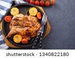 roasted chicken garnish with...   Shutterstock . vector #1340822180