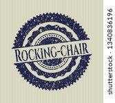 blue rocking chair rubber seal...   Shutterstock .eps vector #1340836196