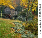 glade creek grist mill in late... | Shutterstock . vector #134083949