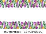 watercolor easter banner.... | Shutterstock . vector #1340840390