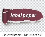 torn paper  ripped label on... | Shutterstock .eps vector #1340857559