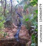 Waterfall Trickling Down A...