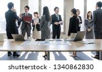 a lot of businessperson in... | Shutterstock . vector #1340862830
