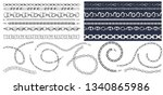 set of brush patterns with... | Shutterstock .eps vector #1340865986