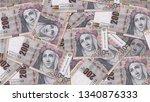 peru pen banknote as background ... | Shutterstock . vector #1340876333