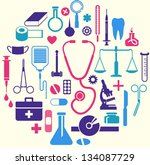 medical themed icons | Shutterstock .eps vector #134087729