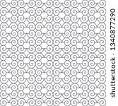 seamless monochrome interlaced... | Shutterstock .eps vector #1340877290