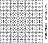 seamless monochrome interlaced... | Shutterstock .eps vector #1340877293