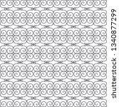 seamless monochrome interlaced... | Shutterstock .eps vector #1340877299