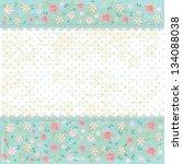 floral grunge vintage background | Shutterstock .eps vector #134088038