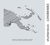 scribble sketch of papua new... | Shutterstock .eps vector #1340884883