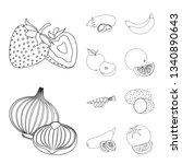 isolated object of vegetable... | Shutterstock .eps vector #1340890643