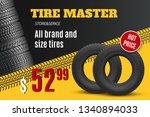 tire shop vector banner of car...   Shutterstock .eps vector #1340894033