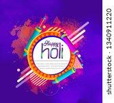 happy holi vector elements for... | Shutterstock .eps vector #1340911220