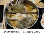 sea crabs in the pot shabu... | Shutterstock . vector #1340916299