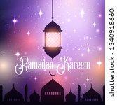 ramadan kareem background with... | Shutterstock .eps vector #1340918660