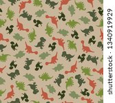 vector of seamless pattern with ...   Shutterstock .eps vector #1340919929