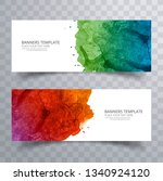 abstract colorful watercolor... | Shutterstock .eps vector #1340924120