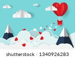 concept of love and valentine... | Shutterstock .eps vector #1340926283