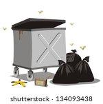 open dumpster   Shutterstock .eps vector #134093438