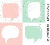 speech bubbles. set of speech... | Shutterstock .eps vector #1340941436