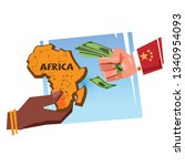 china africa business  economic ... | Shutterstock .eps vector #1340954093