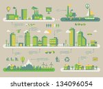 ecology background  vector info ... | Shutterstock .eps vector #134096054