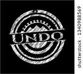 undo on blackboard | Shutterstock .eps vector #1340988569