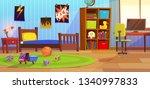 room boy. childrens interior...   Shutterstock .eps vector #1340997833