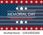 memorial day background.... | Shutterstock .eps vector #1341003260
