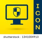 blue computer monitor and... | Shutterstock .eps vector #1341004913