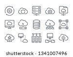 cloud computing related line... | Shutterstock .eps vector #1341007496